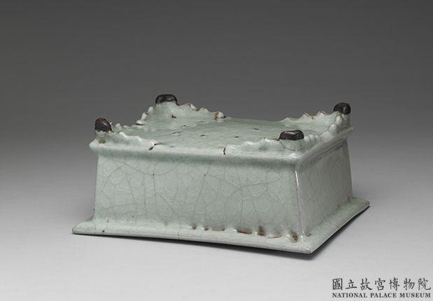 官窑青瓷长方盆 南宋