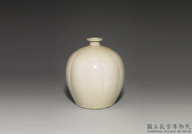 北宋定窑白瓷瓜棱罐