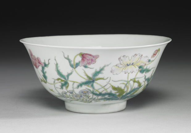 民国洪宪五彩福寿瓷碗