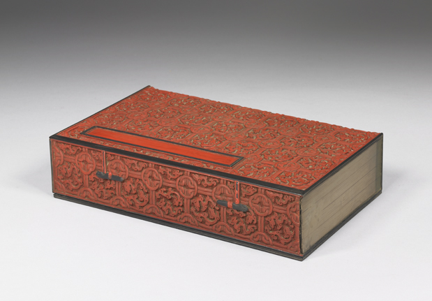 清十八世纪剔红书式盒