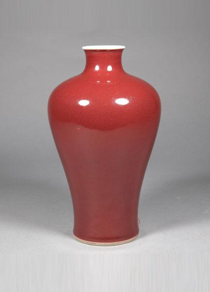 霁红釉梅瓶 清乾隆